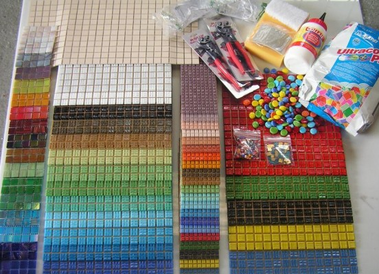 This wonderful colourful mosaic kit goes out to all the successful schools