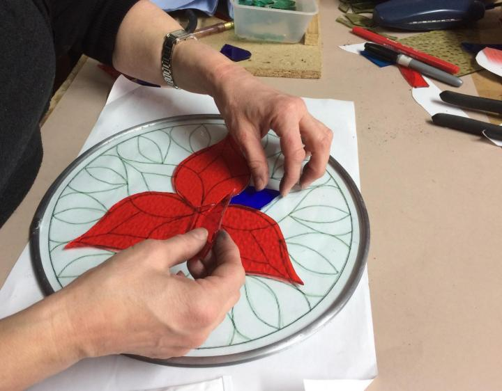 Glass Appliqué Mosaic (glass on glass) Workshop with Tracey Cartledge in Manchester