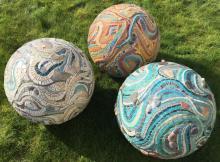 3D mosaic art spheres