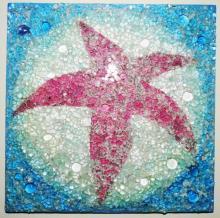 crash glass, tempered glass mosaic