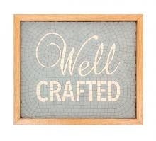 """Typographical Mosaic; words """"Well"""" and """"Crafted"""""""