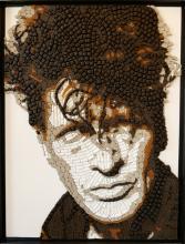 licorice mosaic portrait