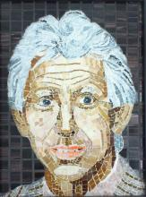 glass mosaic portrait
