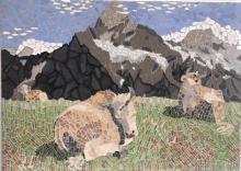 Wetterhorn, with Simmental Cattle