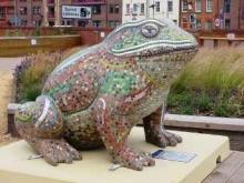 Public mosaic art commission: Larkin with Toads 2010 in Hull