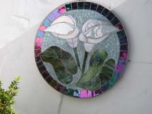 Calla Lily glass mosaic