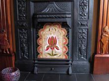 Firescreen glass mosaic