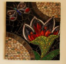 Glass and tiles mosaic