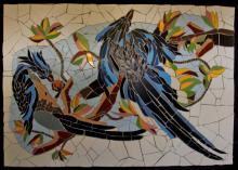 Mosaic with tiles