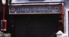 mosaic, shop sign, Alison Mac Cormaic, Lohan's Pharmacy, Prospect Hill, County Galway