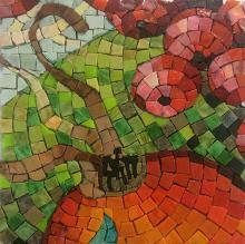 mosaic, Rosehip, per cent for art, Alison Mac Cormaic