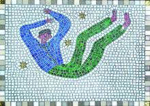 Floating Man Mosaic