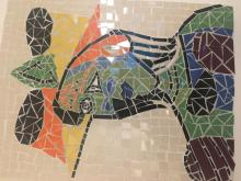 Picasso's colourful woman in Mosaic