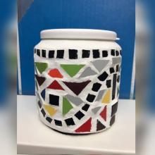A Fun Mosaic Pot