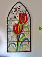 Tulips in Mosaic. Red Tulips