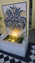 Marble mosaic fountain