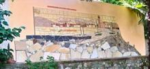 Mosaic, France, found objects, Wall Mural