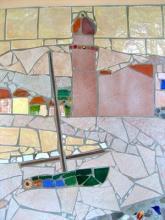 Detail of mosaic mural