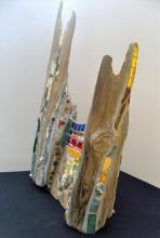Mosaic, Drift wood, Sculpture