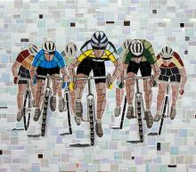 Cyclists mosaic
