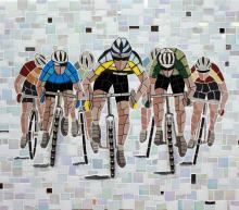 Cyclists mosaic