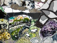 Illustrative mosaic portraying rural Derbyshire